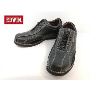 エドウィン 黒 ブラック カジュアル ローカット 靴 メンズ 5550 -100|shobido