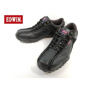 エドウィン 黒 ブラック カジュアル ローカット 靴 メンズ 6100 -100|shobido