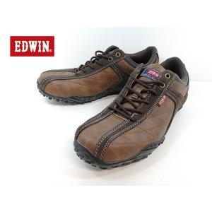エドウィン 茶 ブラウン カジュアル ローカット 靴 メンズ 6100 -200|shobido