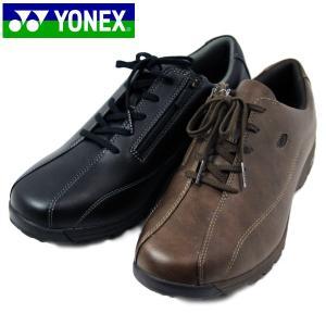 YONEX ヨネックス 21-100-200 パワークッション ウォーキング ジップアップ シューズ メンズ|shobido
