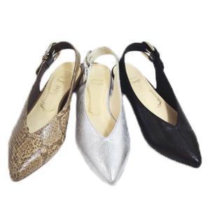メタルルージュ バックストラップ ポインテッド パンプス 靴 レディース 897-100-510-800|shobido