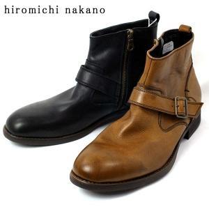 ヒロミチナカノ 本革 カジュアル ブーツ ビジネス シューズ メンズ 372-100-200|shobido