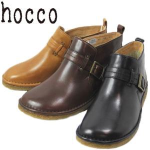 hocco ホッコ 4001-100-220-300 レザー ベルト ショートブーツ ローヒール レディース shobido