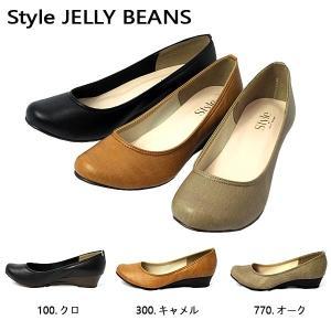 スタイル ジェリービーンズ JELLY BEANS ウェッジソール パンプス 人気定番 レディース 4992-100-770-300|shobido