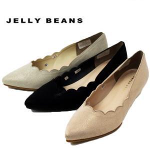 ジェリービーンズ JELLY BEANS フラワーカット パンプス 太ヒール ローヒール レディース 5411-100-700-910|shobido