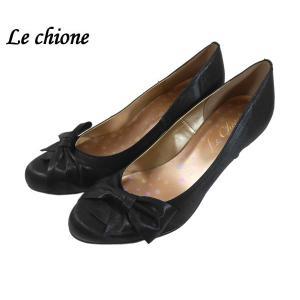 ル・キオーネ サテン生地 リボン パンプス 靴 レディース 6330-10|shobido