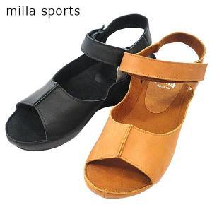 ↓MILLA ミラスポーツ ストラップ サンダル 靴 レディース 6352-100-200|shobido