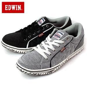 EDWIN エドウィン ED-7133-100-500 カジュアル スニーカー キルティング スウェット ローカット シューズ メンズ|shobido