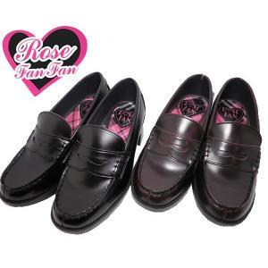 ローズファンファン ファッションヒールアップ ローファー 靴 レディース J600-3001|shobido