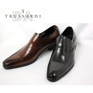 スワールモカ イタリアンテイスト ビジネスシューズ トラサルディ メンズ TR13070-100 -200|shobido