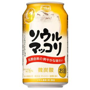 サントリー ソウルマッコリ 350ml×24缶 韓国酒|shochuya-doragon