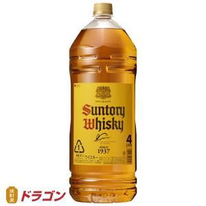 サントリーウイスキー 角瓶 4Lペット 40度 4000ml 4本まで1個口発送 大容量|shochuya-doragon