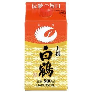 白鶴 上撰 サケパック レギュラー 900ml 日本酒 清酒|shochuya-doragon