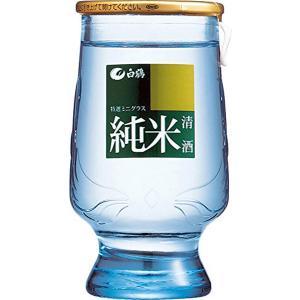 白鶴 特選ミニグラス純米 120ml瓶×24本入 日本酒 清酒|shochuya-doragon