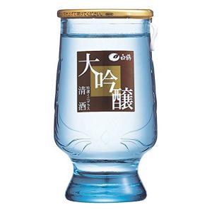 白鶴 特選ミニグラス大吟醸 120ml瓶×24本入 日本酒 清酒|shochuya-doragon