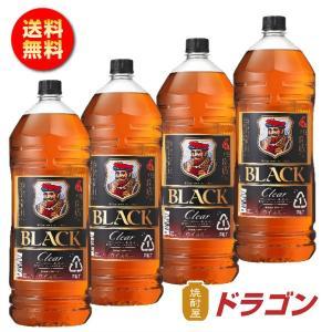 送料無料/ ブラックニッカ クリア 37度 4L×4本 1ケース 4000ml アサヒ ニッカウイスキー ペット 大容量 業務用|shochuya-doragon