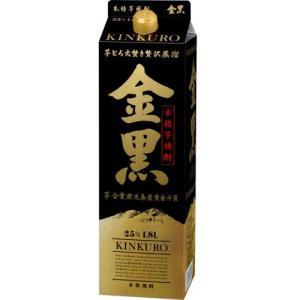 金黒 きんくろ 25度 1.8Lパック 1800ml 本格芋焼酎 アサヒ(芋焼酎)|shochuya-doragon