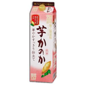 かのか 芋焼酎 華やかすっきり仕立て 25度 1.8L 1800mlパック アサヒ 甲乙混和 いも焼酎|shochuya-doragon