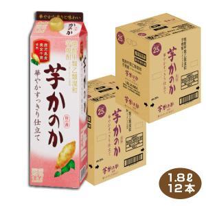 送料無料/かのか 芋焼酎 華やかすっきり仕立て 25度 1.8Lパック×12本 6本入り2ケース  アサヒ 甲乙混和 いも焼酎 1800ml|shochuya-doragon