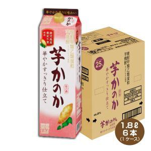 送料無料/かのか 芋焼酎 華やかすっきり仕立て 25度 1.8L×6本 1800mlパック アサヒ 甲乙混和 いも焼酎|shochuya-doragon