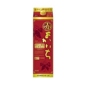 本格焼酎 赤よかいち 赤芋焼酎 25度 1.8Lパック×6 1ケース 1800ml 宝酒造|shochuya-doragon