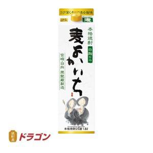 送料無料/本格焼酎 よかいち 麦焼酎 25度 1.8Lパック×6 1ケース 1800ml 宝酒造|shochuya-doragon
