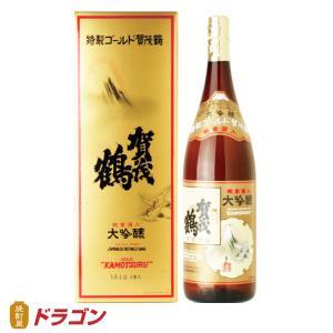 特製ゴールド賀茂鶴 1.8L 金箔入り 1800ml ギフト 贈り物 清酒 日本酒|shochuya-doragon