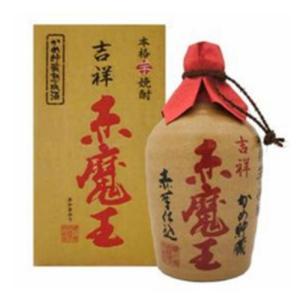 吉祥 赤魔王 陶器 27度 720ml 櫻の郷醸造(本格芋焼酎)  きっしょう あかまおう 壷|shochuya-doragon