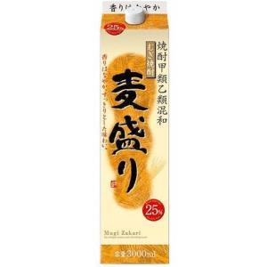 (甲乙混和) むぎ焼酎 麦盛り 25% 3Lパック 合同酒精 甲類乙類混和焼酎 3000ml|shochuya-doragon