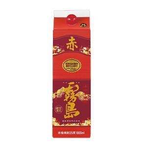 赤霧島 芋焼酎 25度 1.8Lパック 1800ml あかきりしま|shochuya-doragon