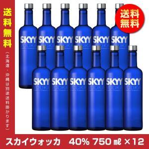 【送料無料】スカイウォッカ 40度 750ml×12 1ケース スピリッツ アサヒ|shochuya-doragon