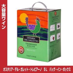 オスタリア・デル・ガレット・トレビアーノ 白ワイン 5L×3 【バッグ・イン・ボックス】【イタリア】 shochuya-doragon