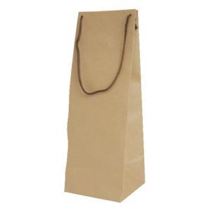 手提紙袋 1本入(クラフト) 1.8L用 一升瓶 1800ml|shochuya-doragon