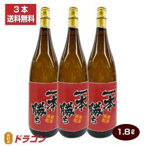 送料無料/濱田酒造 一本勝ち 麦焼酎 1800ml×3/ドラゴンオリジナル shochuya-doragon