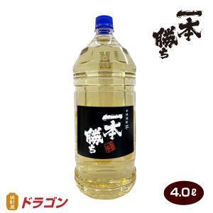【業務用におすすめ】【濱田酒造】一本勝ち 樫樽貯蔵 芋焼酎 4Lペットボトル【ドラゴンオリジナル】|shochuya-doragon