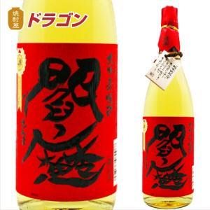 閻魔 樽貯蔵 麦 赤ラベル 25度 1800ml 老松酒造 1.8L 本格麦焼酎 赤閻魔 えんま shochuya-doragon