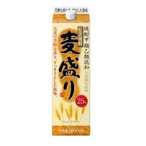 (甲乙混和) むぎ焼酎 麦盛り 25% 1.8Lパック 合同酒精 甲類乙類混和焼酎 1800ml|shochuya-doragon