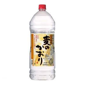 麦焼酎 麦のかおり 25度 4Lジャンボペット 4000ml 焼酎甲類乙類混和 甲乙混和 合同酒精 大容量 業務用|shochuya-doragon