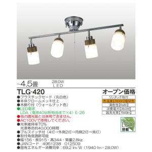 TLG-420タキズミLEDシーリングライトLED電球7W4灯(電球色)|shoden