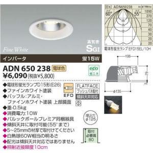 ADN650238コイズミダウンライト電球形蛍光ランプ15W1灯付 電気工事必要|shoden