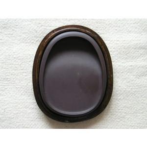 端渓硯石 麻子坑 楕円硯 4インチ|shodouya