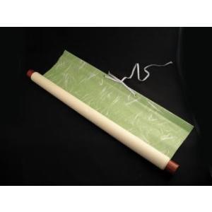 仮巻軸 半切1/2サイズ 大礼 緑色|shodouya