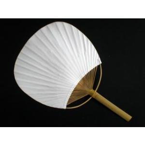 うちわ図引 白 丸型平骨|shodouya