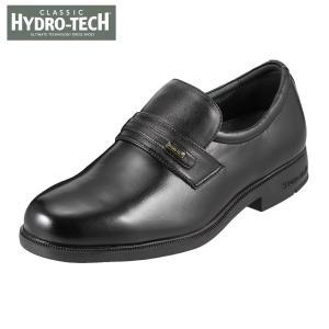 ハイドロテック クラシック HYDRO TECH HD1390 メンズ ビジネスシューズ 黒 本革 防水 4E 幅広 ブラック