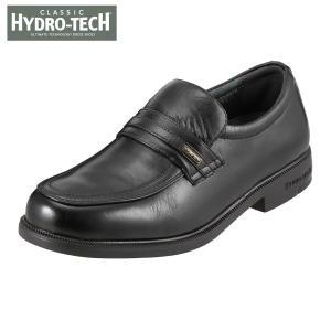 ハイドロテック クラシック HYDRO TECH HD1391 メンズ ビジネスシューズ 黒 本革 防水 4E 幅広 ブラック