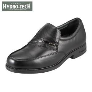 ハイドロテック クラシック HYDRO TECH HD1392 メンズ ビジネスシューズ 黒 本革 防水 4E 幅広 ブラック