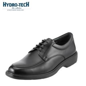 ハイドロテック ブルーコレクション HYDRO TECH HD1324 メンズ ビジネスシューズ 黒 本革 防水 幅広 3E 軽量 ブラック