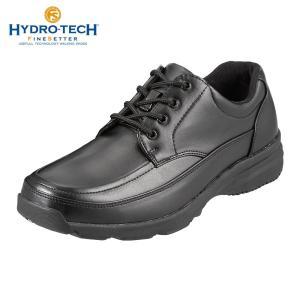 ハイドロテック ウォーキングシューズ カジュアル 防水 防滑 HYDRO-TECH ファインセッター HD1904 メンズ ブラック