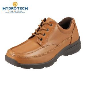 ハイドロテック ウォーキングシューズ カジュアル 防水 防滑 HYDRO-TECH ファインセッター HD1904 メンズ キャメル