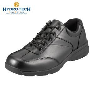 ハイドロテック ウォーキングシューズ カジュアル 防水 防滑 HYDRO-TECH ファインセッター HD1905 メンズ ブラック